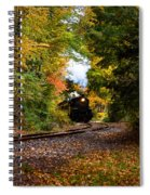 The Number 40 Rounding The Bend Spiral Notebook
