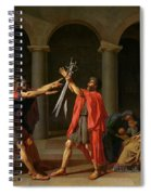 The Oath Of Horatii Spiral Notebook