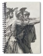 The Oath Of The Horatii, Detail Of The Horatii  Spiral Notebook