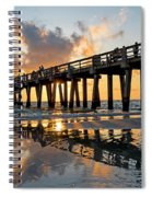 Naples Pier At Sunset Naples Florida Ripples Spiral Notebook