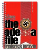 The Odessa File Frederick Forsyth Book Cover 1972 Color Added 2016 Spiral Notebook