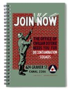The Office Of Civilian Defense Needs You - Wpa Spiral Notebook