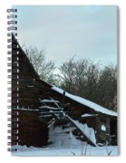 The Old Barn Winter Scene  Spiral Notebook