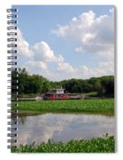 The Old Boat On The Mississippi River Spiral Notebook