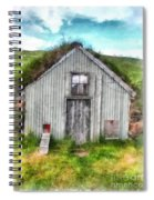 The Old Chicken Coop Iceland Turf Barn Spiral Notebook