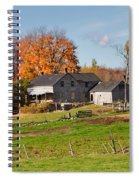 The Old Farm In Autumn Spiral Notebook