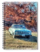 The Old Ford On The Side Of The Road Spiral Notebook
