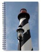 The Old Lantern And The Lighthouse Spiral Notebook