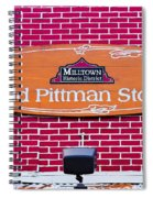 The Old Pittman Store Sign Spiral Notebook