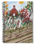 The Old Red Church Spiral Notebook