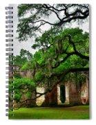 The Old Sheldon Church Ruins Spiral Notebook