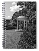 The Old Well At Chapel Hill In Black And White Spiral Notebook