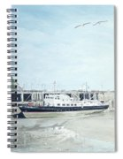 The Oldenburg At Ilfracombe Harbour Spiral Notebook