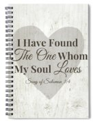 The One Whom My Sould Loves- Art By Linda Woods Spiral Notebook