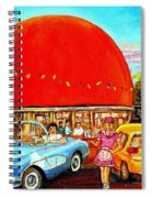 The Orange Julep Montreal Spiral Notebook