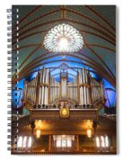 The Organ Inside The Notre Dame In Montreal Spiral Notebook