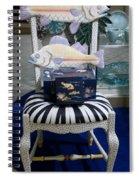 The Original Fish Chair  Spiral Notebook