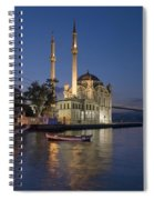 The Ortakoy Mosque And Bosphorus Bridge At Dusk Spiral Notebook