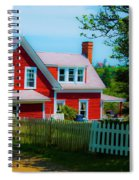 The Other Red House Monhegan Spiral Notebook