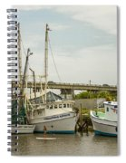 The Paddler Tybee Island Shrimp Boats Spiral Notebook