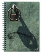The Padlock, Ring And Shadow Spiral Notebook