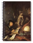 The Painter In His Workshop 1647 Spiral Notebook