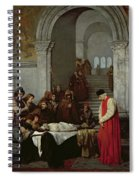 The Painter Luca Signorelli Standing By The Body Of His Rival's Dead Son Spiral Notebook