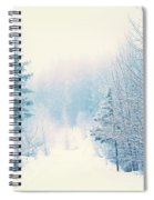 The Pale Kiss Of Winter Spiral Notebook