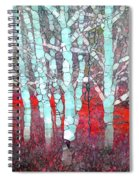 The Pale Trees Of Winter Spiral Notebook