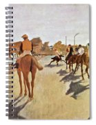 The Parade, Digitally Enhanced Highest Resolution,race Horses In Front Of The Tribune, Edgar Degas Spiral Notebook