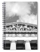The Parthenon In Nashville Tennessee Black And White 2 Spiral Notebook