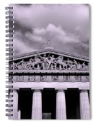 The Parthenon In Nashville Tennessee Black And White Spiral Notebook