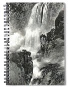 The Pavilion Appreciates The Waterfall Spiral Notebook