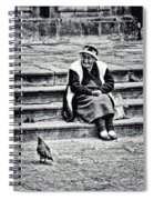 The Peruvian Lady Black And White Spiral Notebook