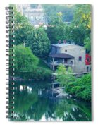 The Philadelphia Canoe Club At The Mouth Of The Wissahickon Spiral Notebook