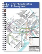 The Philadelphia Pubway Map Spiral Notebook
