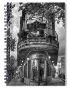The Pickle Barrel 3 B W Flatiron Architecture Chattanooga Tennessee Art Spiral Notebook