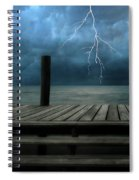The Pier And The Storm Spiral Notebook