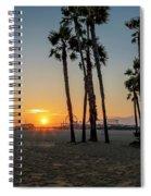 The Pier At Sunset Spiral Notebook