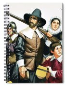 The Pilgrim Fathers Arrive In America Spiral Notebook