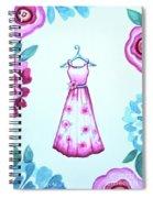 The Pink Floral Dress Spiral Notebook