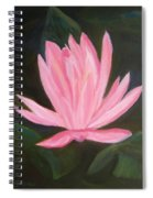 The Pink Water Lily Spiral Notebook