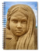 The Playing Girl Spiral Notebook