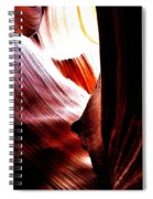 The Polished Rocks Of Lower Antelope Canyon Spiral Notebook