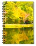 The Pond At Alpine Spiral Notebook