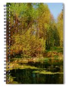 The Pond In The Spring Spiral Notebook