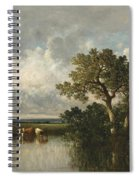 The Pond With Oaks Spiral Notebook