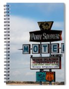 The Pony Soldier Motel On Route 66 Spiral Notebook