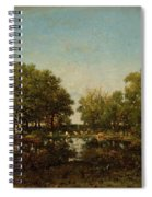 The Pool, Memory Of The Forest Of Chambord Spiral Notebook