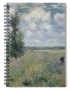 The Poppy Field Spiral Notebook